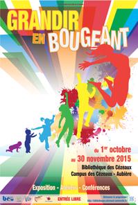 "Affiche exposition ""Grandir en bougeant'"
