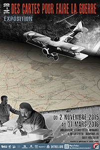 """Affiche exposition """"14-18, Des cartes pour faire la guerre"""""""